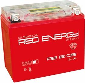 RE12-05, Аккумулятор свинцовый 12B-5Ач 114х70х106 (для мототехники)