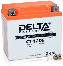 CT1205, Аккумулятор свинцовый 12B-5Ач 114х70х106 (для мототехники)