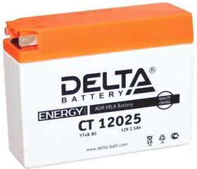 CT12025, Аккумулятор свинцовый 12B-2.5Ач 114х39х87 (для мототехники)