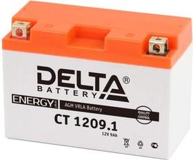 CT1209.1, Аккумулятор свинцовый 12B-9Ач 151х71х107 (для мототехники)