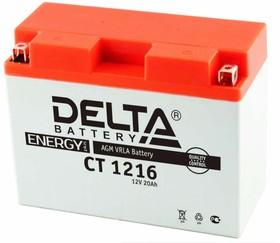 CT1216, Аккумулятор свинцовый 12B-16Ач 205х70х162 (для мототехники)