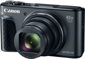 "Фото 1/7 Фотоаппарат Canon PowerShot SX730HS черный 21.1Mpix Zoom40x 3"" 1080p SDXC/SD/SDHC CMOS 1x2.3 IS opt 1minF 6fr/s 60fr/s HDMI/WiFi/NB-13L"