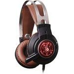 Наушники с микрофоном A4 Bloody G430 черный/коричневый 2.3м ...