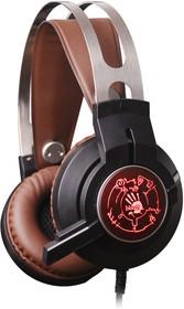 Фото 1/9 Наушники с микрофоном A4 Bloody G430 черный/коричневый 2.3м мониторные оголовье (G430 BROWN)