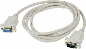 Кабель-удлинитель VGA NINGBO VGA (m) - VGA (f), 1.8м, серый [rcab015-06]