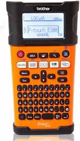 Принтер Brother P-touch PT-E300VP переносной оранжевый/черный [pte300vpr1]