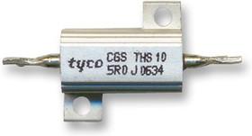 Фото 1/2 THS103R3J, Резистор, с осевыми выводами, 3.3 Ом, Серия THS, 10 Вт, ± 5%, Лепесток для Пайки, 160 В