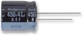 250BXF120M18X20, Электролитический конденсатор, миниатюрный, 120 мкФ, 250 В, Серия BXF, ± 20%, Радиальные Выводы