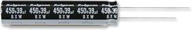 450BXW15MEFC10X20, Электролитический конденсатор, миниатюрный, 15 мкФ, 450 В, Серия BXW, ± 20%, Радиальные Выводы