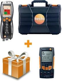 Комплект Testo 330-2 LL BT+мультиметр Testo 760-2 с магнитным креплением, кейс,