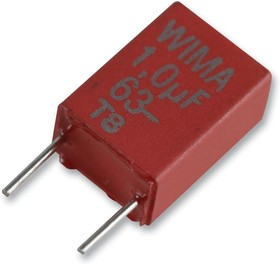 MKS2D031001A00JSSD, DC Пленочный Конденсатор, 0.1 мкФ, 100 В, Metallized PET, ± 5%, Серия MKS2