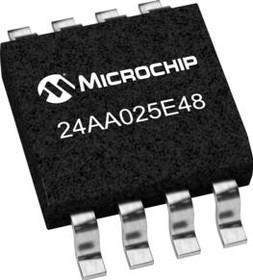 Фото 1/2 24AA025E48-I/SN, EEPROM Serial-2Wire 2K-bit 256 x 8 1.8V/2.5V/3.3V/5V 8-Pin SOIC N Tube