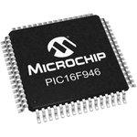 Фото 3/4 PIC16F946-I/PT, Микроконтроллер 8-Бит, PIC, 20МГц, 14КБ (8Кx14) Flash, с LCD драйвером, 53 I/O [TQFP-64]