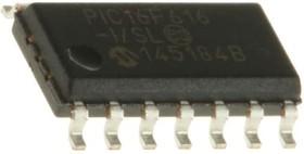 PIC16F616-I/SL, Микроконтроллер, 8-бит PIC RISC, 3.5KB Flash, 2.5V/3.3V/5V, Automotive [SOIC-14]