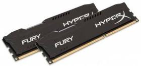 Модуль памяти KINGSTON HyperX FURY Black Series HX316C10FBK2/8 DDR3 - 2x 4Гб 1600, DIMM, Ret