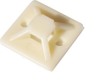 SQ0516-0002 (упаковка из 100), Площадка 25х25 под хомуты самоклеющаяся