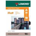 Фотобумага Lomond 0102011 A3/90г/м2/100л./белый матовое для ...