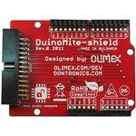 Фото 3/3 DUINOMITE-SHIELD, Плата расширения для модулей DUINOMITE форм-фактора Arduino с 26-pin коннектором