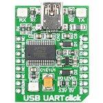 Фото 3/5 MIKROE-1203, USB UART click, Плата преобразователя интерфейса USB UART на базе FT232RL