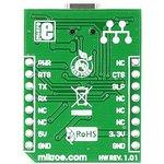Фото 2/6 MIKROE-1203, USB UART click, Плата преобразователя интерфейса USB UART на базе FT232RL
