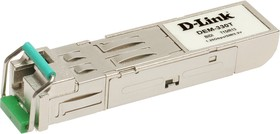 DEM-330T (OEM), 1-port mini-GBIC 1000Base-LX SMF WDM SFP Tranceiver (up to 10km, support 3.3V power, LC connector)