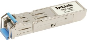 DEM-330R (OEM), 1-port mini-GBIC 1000Base-LX SMF WDM SFP Tranceiver (up to 10km, support 3.3V power, LC connector)