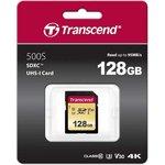 Фото 2/2 TS128GSDC500S, Флеш-накопитель Transcend Карта памяти Transcend 128GB UHS-I U3 SD card MLC