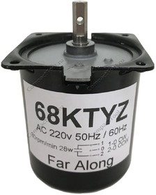 Мотор с редуктором 68KTYZ 220В 2.5 об/мин
