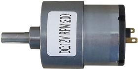 Мотор с редуктором JGB37-520 12B 1:50 200 об/мин