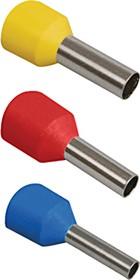 Наконечник втулочный изолир. 2,5мм2, длина втулки 8мм (цв. ряд 1, цвет голубой)