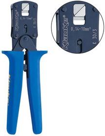 K303 Пресс-клещи с храпов. мех-м для втулочных наконечников (0,08-10 мм2, ромб)