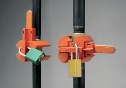 Малое устройство (блокирует вентили в позициях «открыто» и «закрыто»), синее, трубы диам. От 12,5 до 31 мм