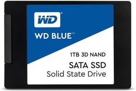 """Фото 1/2 WDS100T2B0A, Твердотельный накопитель SSD WD Blue 3D NAND WDS100T2B0A 1ТБ 2,5"""" SATA-III (TLC)"""