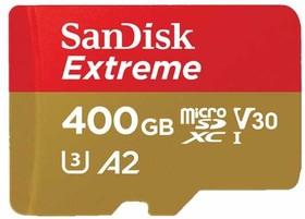 SDSQXA1-400G-GN6MA, Флеш-накопитель Sandisk Карта памяти Sandisk Extreme microSDXC 400GB + SD Adapter + Rescue Pro Delux