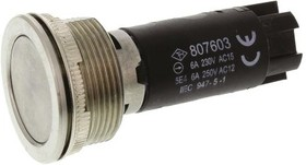TH807603000, Single Pole Double Throw (SPDT) Momentary Push Button Switch, IP67, 22.5 (Dia.)mm, Panel Mount