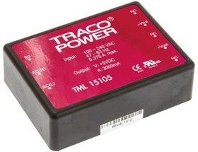 TML 15105, AC/DC Power Supply Single-OUT 5V 3A 15W 8-Pin