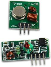 Фото 1/2 433MHz KIT transceiver, Комплект передатчик + приемник 433МГц для Arduino продуктов