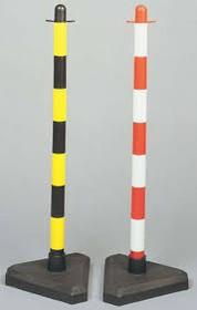 Пластиковая опорная стойка без основания+ верхушка, красно-белая, диам.столба - 60 мм, высота 900 мм.