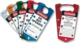 Замковый множитель с биркой Do not operate, материал - алюминий (5 шт/упак)