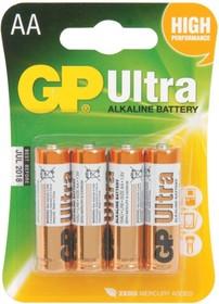 Батарея GP Ultra Alkaline 15AU LR6, 4 шт. AA