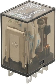 HHC68A-2Z-12D (Plug-in), Реле 2 пер. 12VDC / 10A, 240VAC