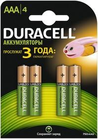 Аккумулятор DURACELL HR03-4BL, 4 шт. AAA, 750мAч