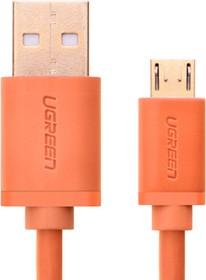 UG-10864, Кабель интерфейсный USB 2.0 1.0m Premium UGreen, AM / microB 5pin, 28 / 24 AWG экран, оранжевый