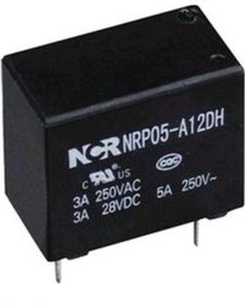 NRP05-A-12D-G, Реле 1 зам. 12V / 10A, 250VAC