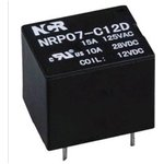 NRP-07-C-05D, Реле 1 пер. 5V / 12A, 120VAC