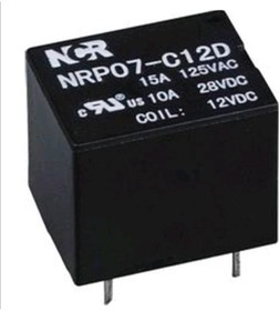 NRP-07-C-12D, Реле 1 пер. 12V / 7A, 250VAC