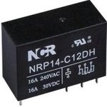 NRP-14-C-12D-H, Реле 1 пер. 12V / 16A, 250VAC