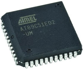 Фото 1/2 AT89C51ED2-SLSUM, Микроконтроллер 8-Бит, 8051, 60МГц, 64КБ Flash [PLCC-44]
