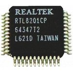 Фото 2/2 RTL8201CP-VD-LF, Микросхема, однопортовый 10/100M FAST ETHERNET PHYCEIVER (с Auto Crossover), [LQFP-48]