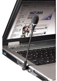 Фото 1/2 Микрофон для ноутбука Hama H-57152 (00057152) черный 17cm 3.5Jack